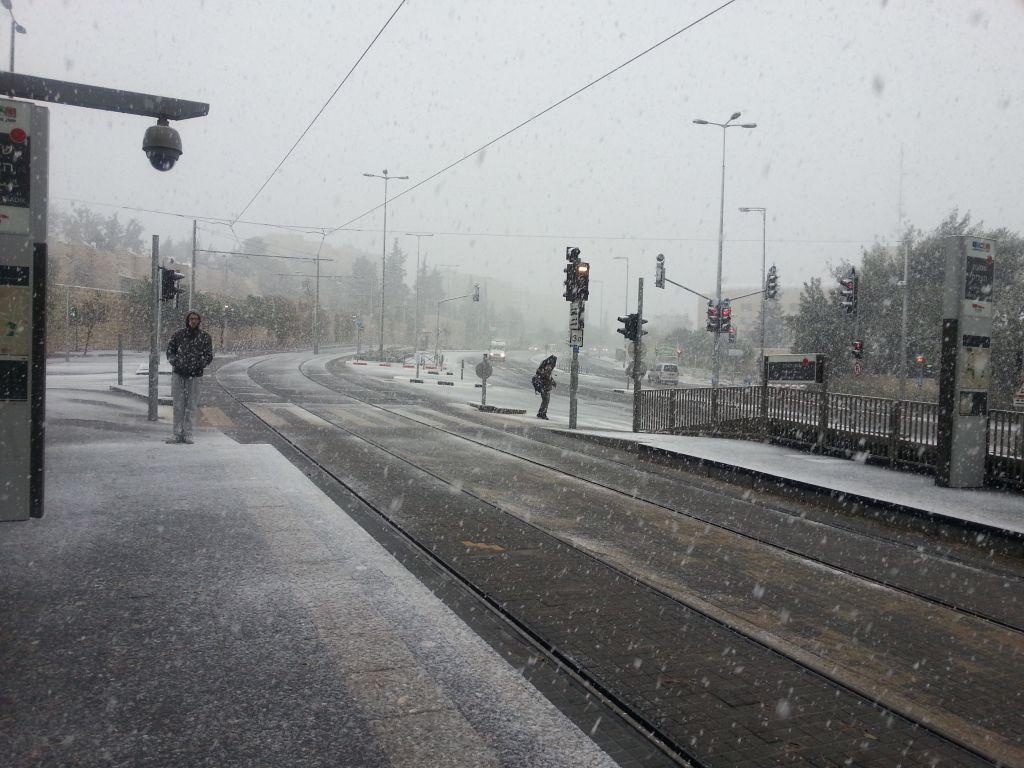 Am Anfang des Schneesturms