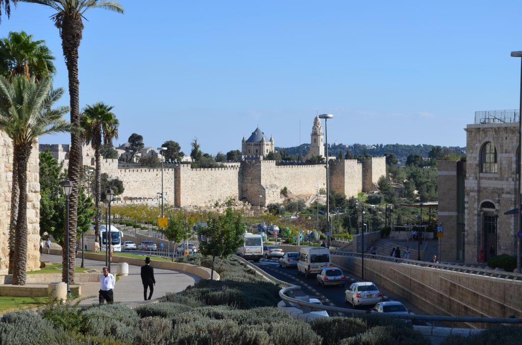 Blick auf die Altstadtmauer