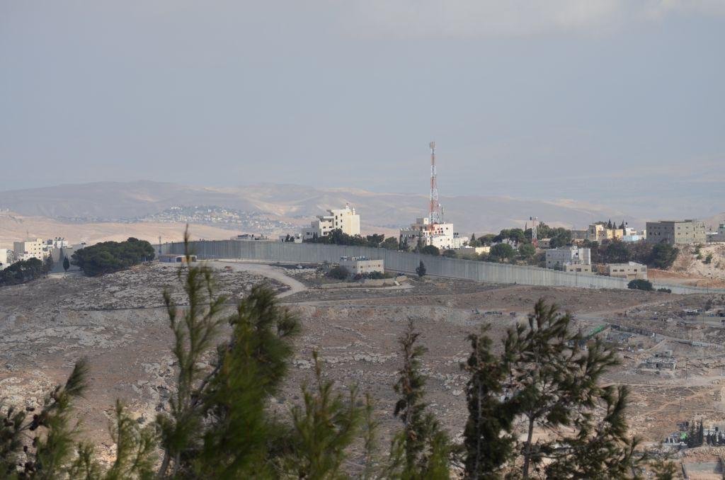 Die Sperranlage (Mauer) in Richtung Bethlehem
