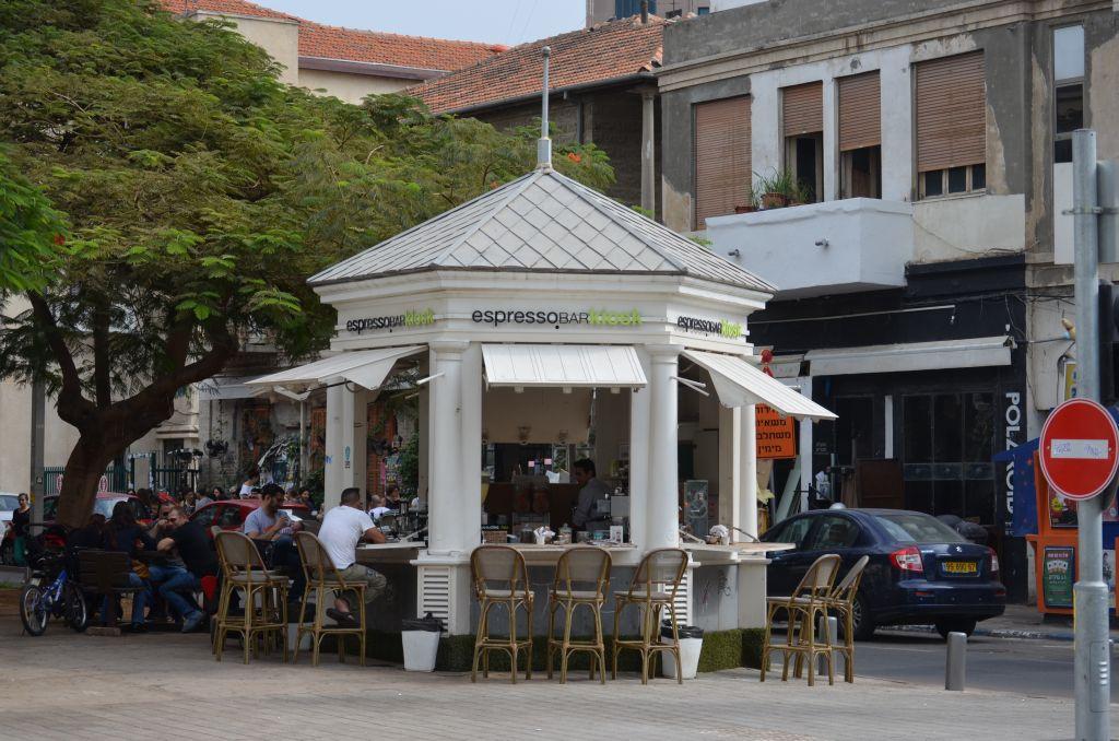 Auch wenn es nicht so aussieht, es ist das älteste Kiosk Tel Avivs