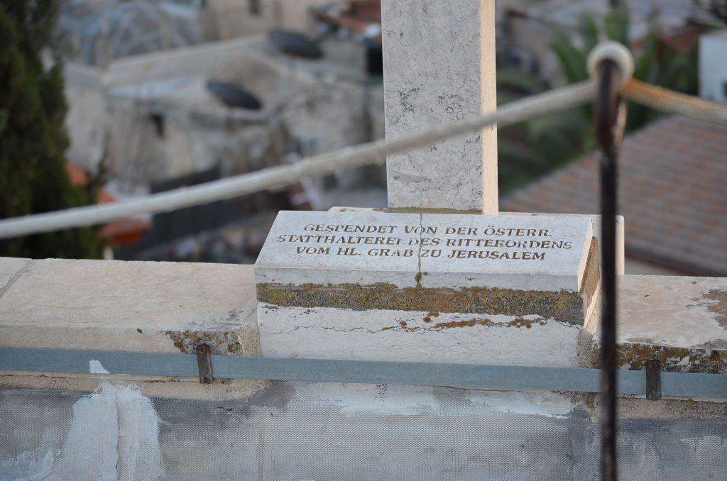 Auf dem Dach des Österreichischen Hospiz: Wer hat's erfunden?