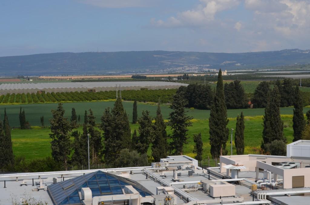 Die Grenze ist nicht einmal 10 Km entfernt. Blick vom Krankenhaus auf den Libanon, 11.3.14