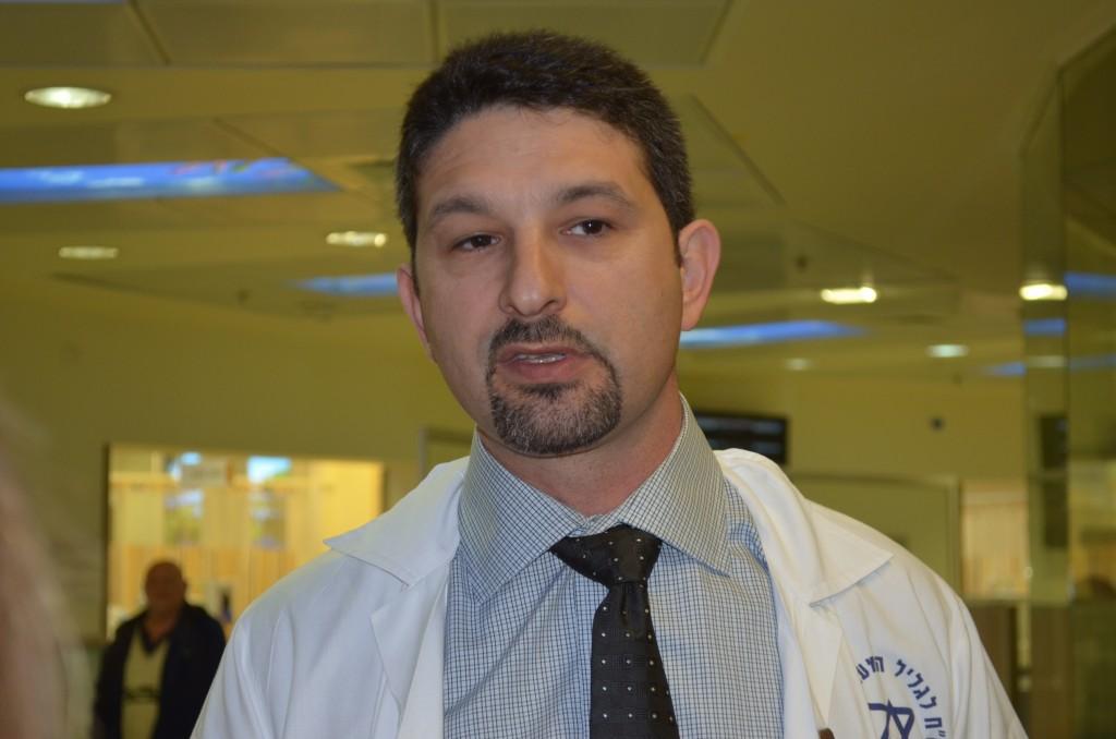 Dr. Tsvi Sheleg, der Direktor des Trauma-Krankenhauses in Naharija, 11.03.14