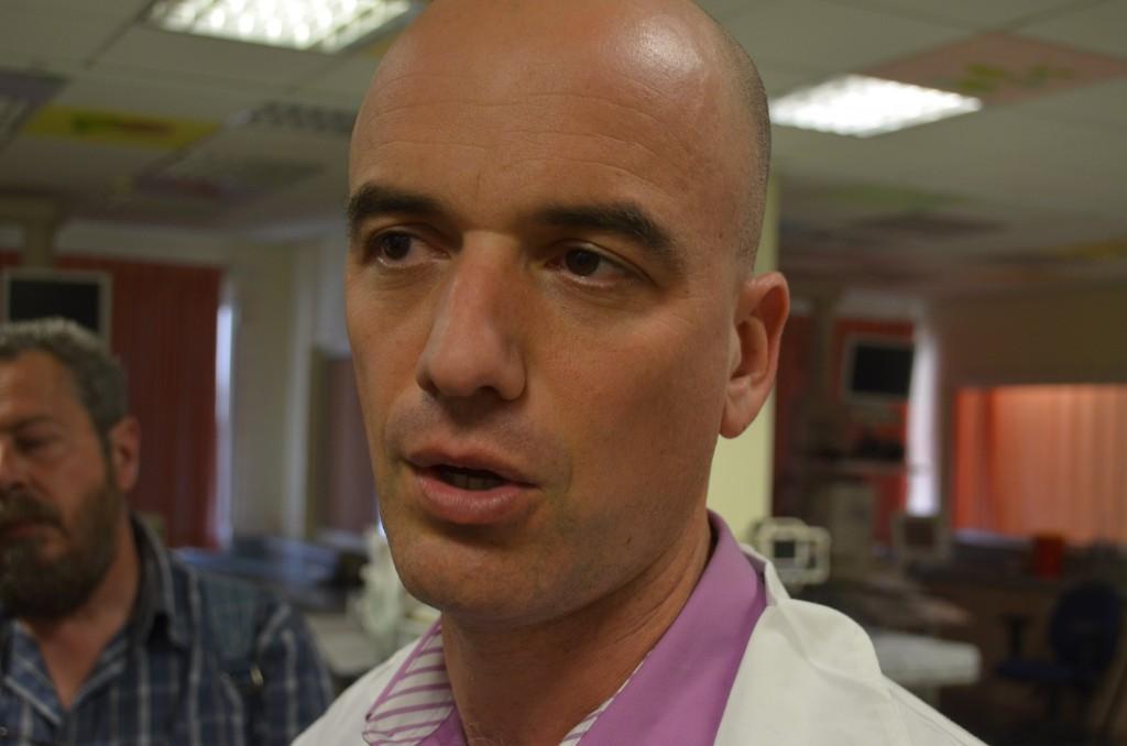 Dr. Yoav Hoffman, Oberarzt auf der Kinderintensivstation im Trauma-Krankenhaus in Naharija, 11.03.14